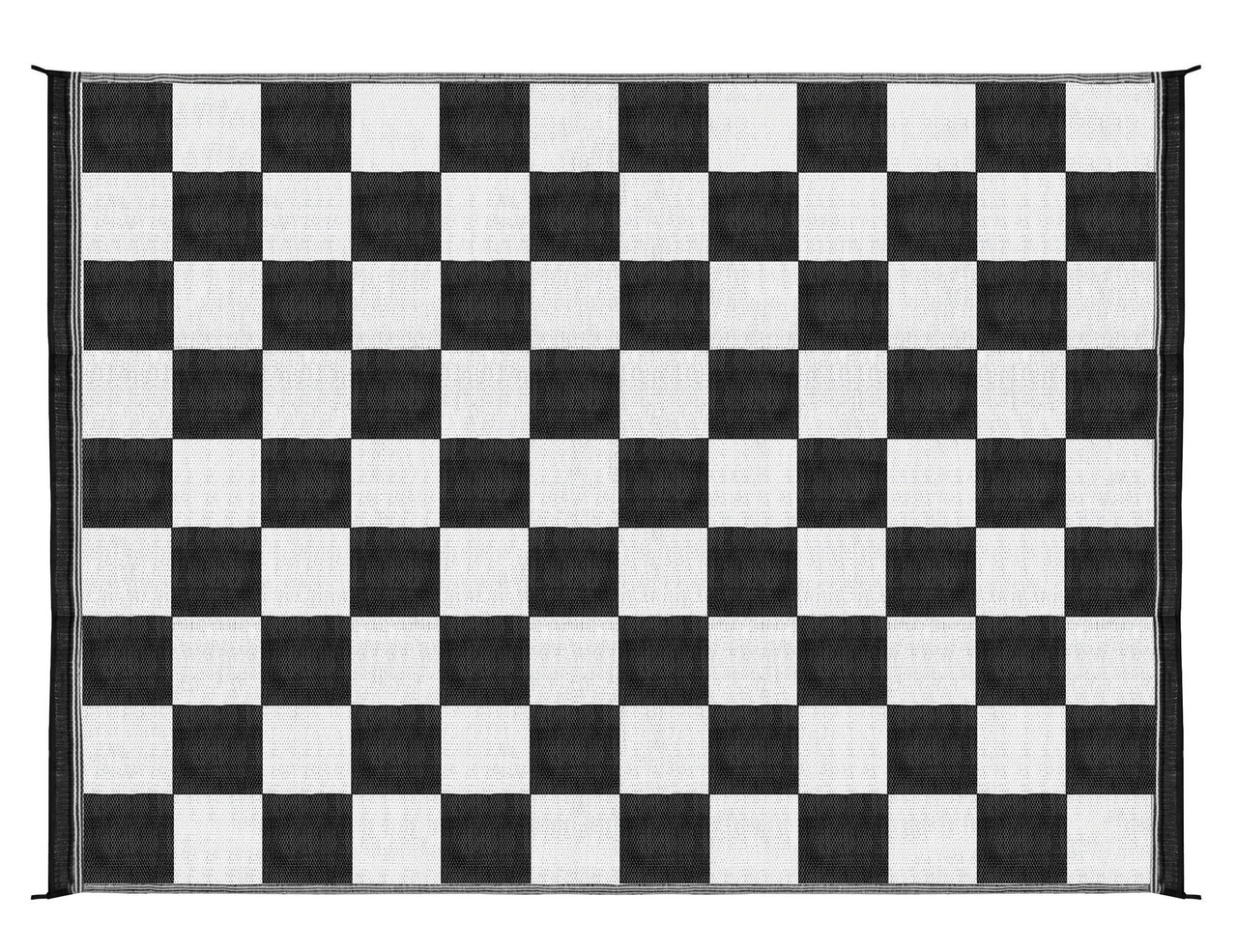 Camco Outdoor Mat 9 X 12 Black White Checkered Rvsupplies Com