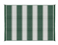Camco Outdoor Mat, 6' x 9', Green Stripe, w/UV