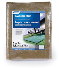 Camco Awning Leisure Mat, 6' x 9', Brown Reversible