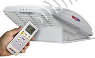 MaxxAir MaxxFan Roof Ventilator with Remote - White