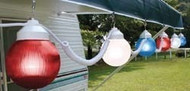 Polymer Globe Patio Lights - Patriotic