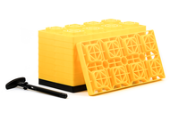 Camco FasTen Leveling Blocks with T-Handle (10-Pack) Yellow