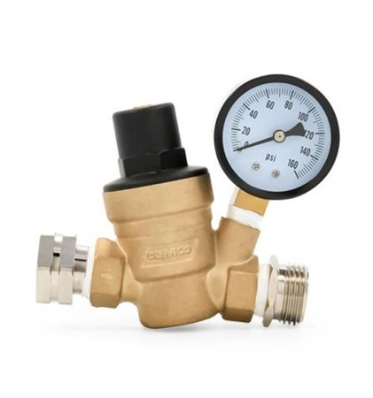 Water Pressure Regulator With Gauge Camco 40058 Rvsupplies Com