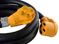 Cynder RV Yellow 50 Amp Extension Cord Camper 25'
