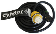 Cynder RV/Marine 25' Power Cord 30 Amp w/ Twist Locking Connector