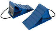 Cynder Wheel Chock Stop Wedge 2 Pack w/ Carrying Rope