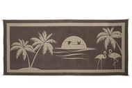 Reversible Outdoor RV Patio Mat/Rug/Carpet Tropical Oasis, 8 x 18