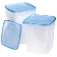 Leftover Food Storage Containers, 3pk, 1 Quart