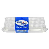 Crystal Image Butter Dish, Clear, Plastic
