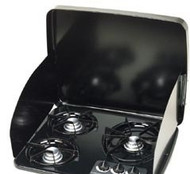 Suburban Drop-In Cooktop Cover w/ Shields for 2 Burner, Black