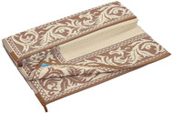 Reversible Outdoor Patio Mat/Rug/Carpet, Brown Beige