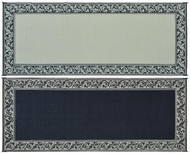 Reversible Outdoor Patio Mat/Rug/Carpet, Black Beige Classical, 8 x 20