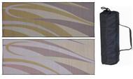 Reversible Outdoor Patio Mat/Rug/Carpet, Brown Gold, 8 x 20