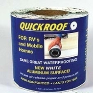 "Quick Roof Aluminum Waterproof Roof Repair, White, 6"" x 25'"