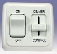 Dimmer/On-Off Rocker Switch Assembly w/ Bezel White