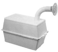 Vented Battery Box, Large, White