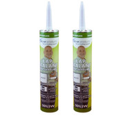 Dicor EPDM Rubber Caulk Roof System Lap Sealant, White, 2pk