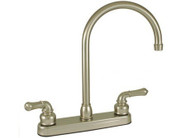 Empire Brass *' Kitchen Faucet Teapot Handles w/ Gooseneck Spout, Nickel