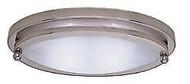 "Gustafson 10"" Low Profile Oval Light, Satin Nickel"