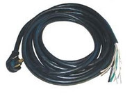 Power Cord, 30 Amp 25' Male End Only
