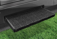 Jumbo Wraparound +Plus RV Step Rug, Black