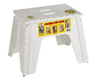 "EZ-Foldz Folding Step Stepping Stool, 12"", White"