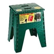 "EZ-Foldz Folding Step Stepping Stool, 15"", Forest Green"