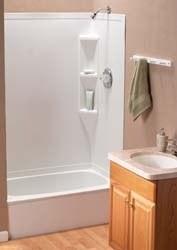 """Full Bath Tub, 40"""" x 24"""", (RH), Parchment"""