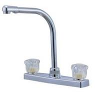 High Spout Kitchen Faucet, White