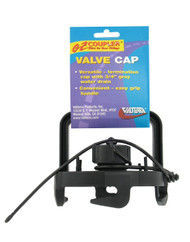 Valterra EZ Coupler Valve Cap, with Handle, Black, Carded