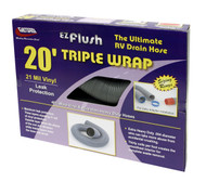 Valterra EZ Flush Triple Wrap Drain Hose, 20', Silver, Boxed