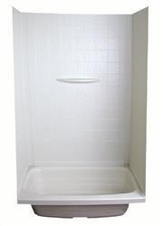 """Bathtub/Shower Surround, Parchment, 40"""" x 56"""""""