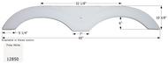 Fender Skirt, Tandem, Cruiser, FS2850, Polar White
