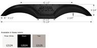 Fender Skirt, Tandem, Thor, FS2024, Black