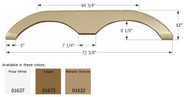 Fender Skirt, Tandem, Keystone, FS774, Taupe