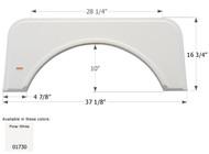 Fender Skirt, Single, Kit, FS1730, Polar White