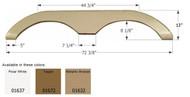 Fender Skirt, Tandem, Keystone, FS774, Polar White