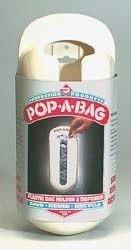 Pop-A-Bag Plastic Bag Dispenser, White