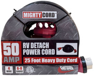 Valterra 50A Detach Power Cord w/Hdl, 25', Red, Boxed