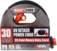Valterra 30A Detach Power Cord w/Hdl, 25', Red, Boxed