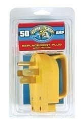 Camco Power Grip Replacement PLug, 50 Amp