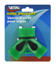 Valterra Hose Shut Off, Double, Plastic, Carded