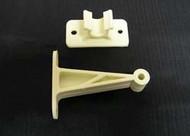 "Clip-Style Plastic Door Holdback, 5 1/2"", White"