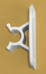 "Entry Door Holder Clip, 3"", Colonial White"