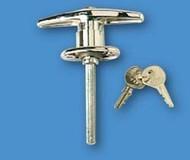 T-Handle Lock, Chrome