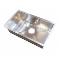 Better Bath Stainless Steel Single Square Sink