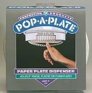 Pop-A-Plate Paper Plate Dispenser, White