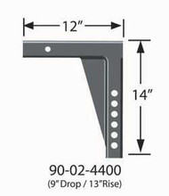 "Equal-i-zer Weight Distribution Hitch Shank - 13"" rise/ 9"" drop"