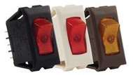 Illuminated On/Off Switch, 120V, Red/Black