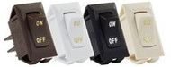 Labeled On/Off Switches, Black, 3pk